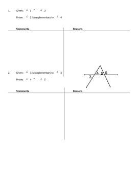 Practice Worksheet #1: Proofs