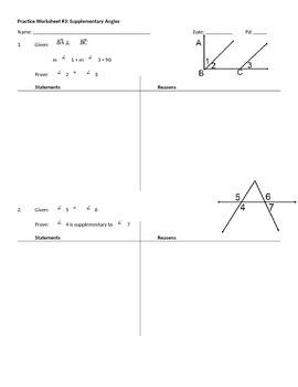 Practice Worksheet #2: Proofs