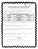 Practice Worksheet - Counting Atoms in Chemical Formulas TEKS 8.5D