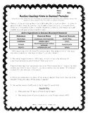 Practice Worksheet - Counting Atoms in Chemical Formulas T