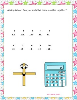 Practice Worksheet To Make Adding Doubles Fun!