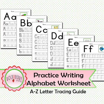 Practice Writing Alphabet with Tracing Guide Worksheet