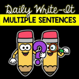 Practice Writing Multiple Sentences: Daily Sentence Writin