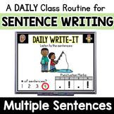Practice Writing Multiple Sentences: Daily Sentence Writin