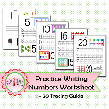 Practice Writing Numbers with Tracing Guide Worksheet