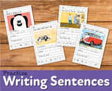 Practice Writing Sentences 'Dan's Dog At The Vet' (4-7 years)