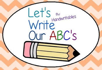 Practice Writing Your ABC's