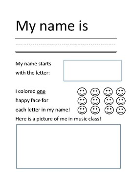 Practice Writing Your Name!
