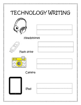 Practice Writing - technology words