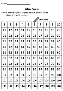 Practice Your 6 Times Tables