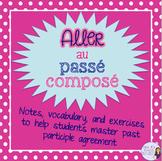 French verb aller passé composé - notes and exercises / aller au passé composé