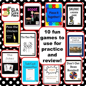 Practice and Review 7 Comma Rules ~ 60 Task Cards PLUS 10 Games!