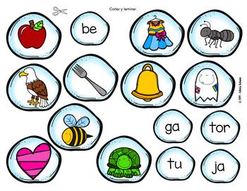 Práctica de sílabas - Invierno