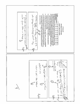 Practice exam for AP Calculus AB, Free Response questions