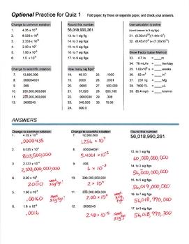 Practice for 1st Physics Quiz