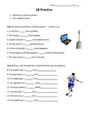 Practice for Definite/indefinite Articles & Noun/adjective Order (Realidades 1B)