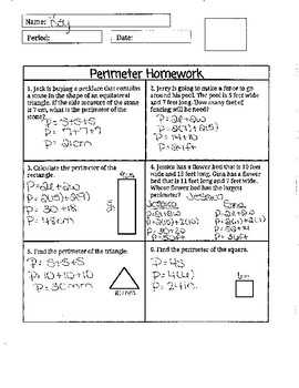 Practice for Perimeter of Square, Rectangle, and Triangle