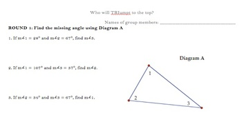 Finding the Missing Measure in Triangles Game