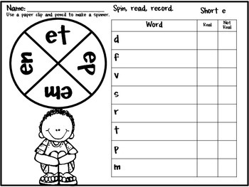 Practice in a Pinch BUNDLED Printables for Consonant Digraphs, CVC and CVCe