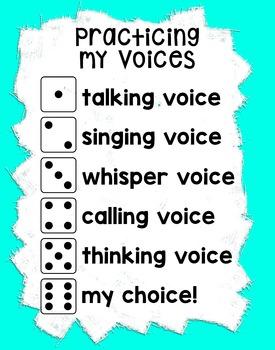 Practice my Voices Chart