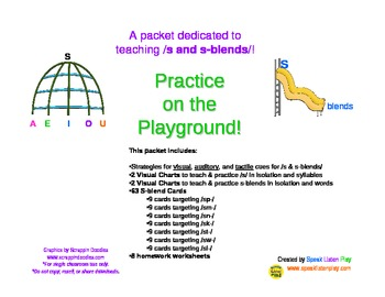 Practice on the Playground: /s and s-blends/ articulation practice