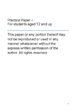 Practice paper for PSLE