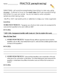Practice paraphrasing using examples taking notes for research worksheet