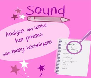Sound in poetry lessons: creative writing, vocab games & t
