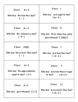 Practice reading mathematical symbols