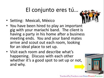Practice reciprocal verbs like hablarse using this story and task (level 2, up)