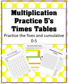 Practice the Fives Multiplication Support Mini Pack