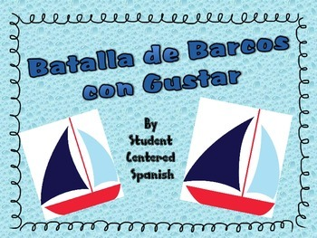 Practice the Spanish verb Gustar with a fun game- Battleship!