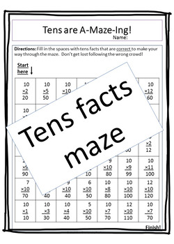 Practice the Tens Multiplication Support Mini Pack