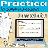 Gustar in Questions Practice (Spanish)- Animated, interact