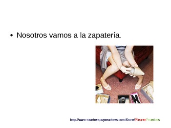 """Practice """"va"""" in town and in school! Spanish 1 lesson, quiz, answers, review"""