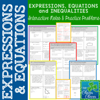 Expressions and Equations - Practice with 7.EE.1 - 7.EE.4