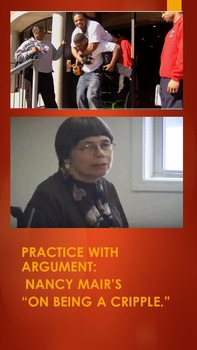 """Practice with Argument: Nancy Mair's """"On Being a Cripple."""""""