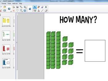 Practice with Base Ten Blocks--SMARTBOARD FILE