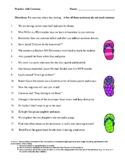 Practice with Commas Worksheet