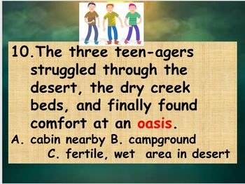 Practice with Context Clues 7th Grade Common Core Power Point