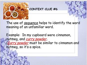 Practice with Context Clues 8th Grade Common Core Power Point