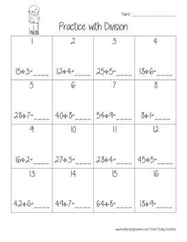 Practice with Division