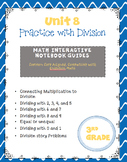 Practice with Division (enVision Topic 8) Interactive Notebook