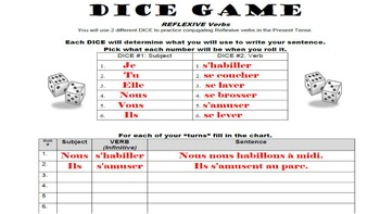 Practice with French Sentences: 17 French Dice Games Bundled