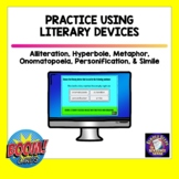 Literary Devices BOOM Cards   Distance Learning