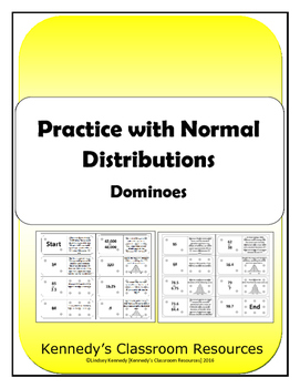 Practice with Normal Distributions - Dominoes