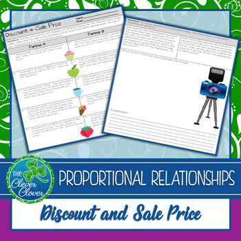 Discount and Sale Price Worksheets - 7.RP.3