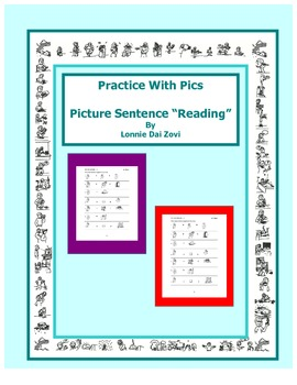"""Practice with Pics ©  Picture """"Reading"""" Sentences"""