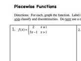 Practice with Piecewise Functions