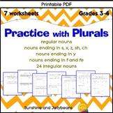 Practice with Plurals - 7 worksheets - Grade 3-4 - Regular